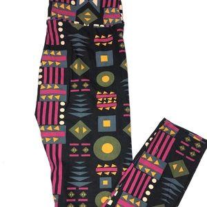 LuLaRoe Women's Leggings Multi-Color Geometric